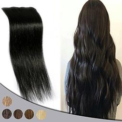 """Remy Clip in Hair Extensions 16"""" 4pcs Real Human Hair Double"""