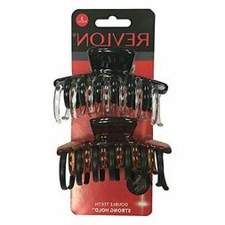 Revlon Strong Hold Hair Claw Clips Strong Comfortable Full H