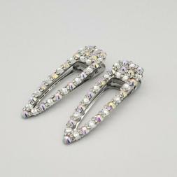 Rhinestone Crystal Hair Clip Barrette USA Wedding Prom Set O