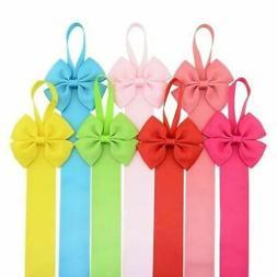 Ribbon Belt Solid Hair Bow Hair Clips Barrettes Hanger Stora
