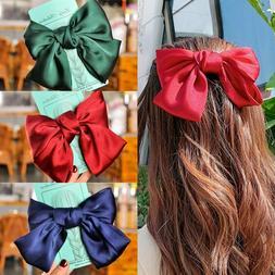 ribbon hairgrips big large bow hairpin satin