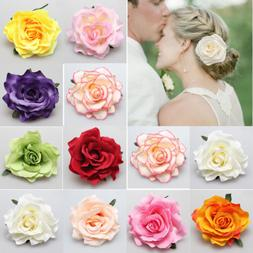 Rose Flower Bridal Hair Clip Hairpin Brooch Wedding Bridesma