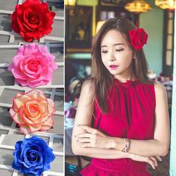 Rose Flower Hairpin Brooch Wedding Bridesmaid Party Hair Cli