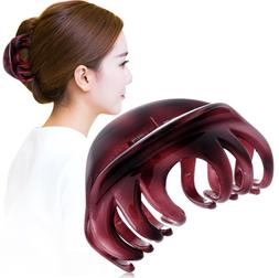 Rosette Large  Hair Claw  Clamp Fashion Acrylic Water Patter