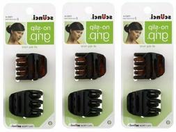 scunci 2 Pc Hair Claw Clip No-Slip Grip Tortoise & Glitter T