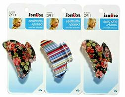 Scunci Effortless Beauty Printed Jaw/Claw Hair Clip Floral/S