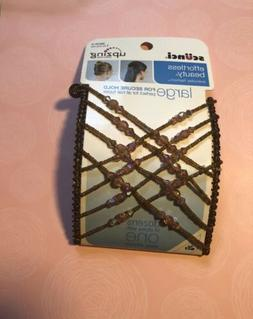 scunci effortless beauty upzing large brown beaded