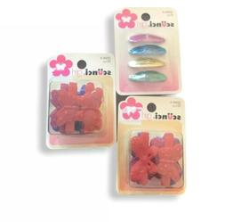 Scunci Hair Clips Butterfly Glitter VINTAGE Rare