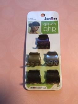 SCUNCI No Slip Grip Multi-Color Small 5pc Claw Hair Clip