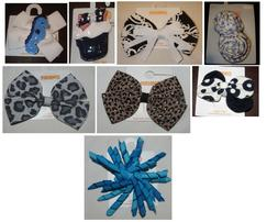Gymboree selection hair clips NWT UPICK july 4th black white