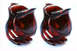 Set Of 2 French Hair Claw Strong Celluloid Acetate 1.5 Inch