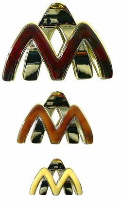 Bella Set of 3 Light Weight Jaw Clips Claw Clips Hair Clips