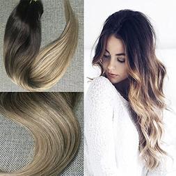 """Full Shine 18"""" 10 Pcs 120g Full Set Clip in Hair Extensions"""