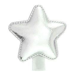 Child Baby Girl Shiny Crown Heart Star Faux Leather Barrette