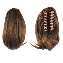 """S-ssoy 10"""" Women's Short Straight Claw Clip On In Ponytail P"""