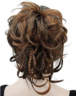 Kalyss 12 inch Short Wavy Culry Ponytail Handmade Braid Hair