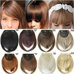 Side Bangs Clip on Neat Bang Fringes Clip in Hair Extensions