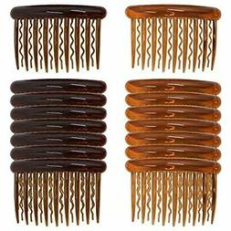 Side Combs 16 Pieces Plastic Teeth Hair Pin Clips For Women
