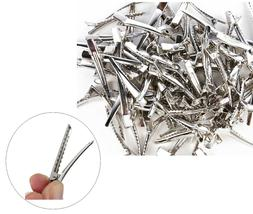50pc Silver Single Prong Alligator Metal Clips w/ teeth 1.75