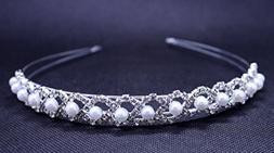 Exquisite Simulated Pearl & Rhinestones Bridal Wedding Headb