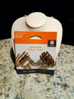 Skeleton Hand Hair Clip Set Of 2 Hair Clips Goldtone New Wit