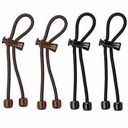 Pulleez Set of 4 Sliding Ponytail Holders Elastic Hair Tie B
