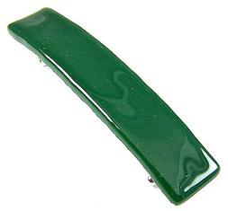 Stained Glass BARRETTE Green Emerald Jade Forest Small 2.5""