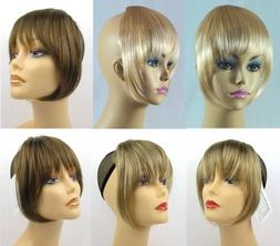 STRAIGHT HAIR CLIP IN BANGS EXTENSIONS HAIRPIECE TOUPEE CLIP