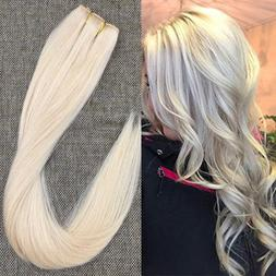 Full Shine 18 inch Natural Straight Hair Extensions Clip in