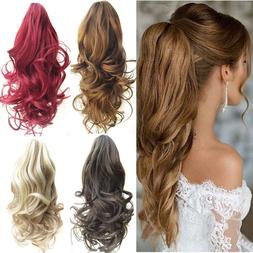 Stylish Curly Hair Clip In Hair Extensions Pony Tail Hairpie