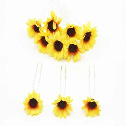Sunflower Hair Pins Hair Clips for Bridal Wedding Party Brid