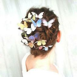Super Cute Blue Butterfly Hair clips Set of 5 Alligator Clip