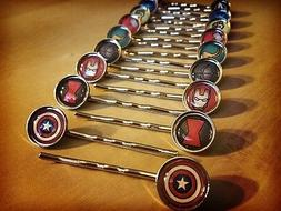 Superhero Handmade Hair Clips - Featuring the Avengers and L