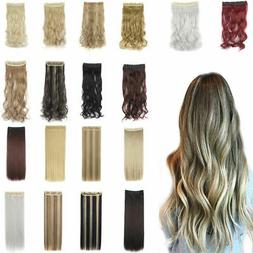 Synthetic Clip-In 5clips One Piece Long Hairpiece Hair Exten