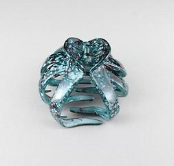 Teal octopus hair clip big barrette plastic claw clamp acces