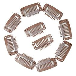 CXYP 9 Teeth Snap Clips for Hair Extensions Hair Wig Combs
