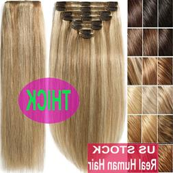 thick double weft clip in real remy