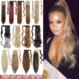 thick ponytail long clip in hair extension