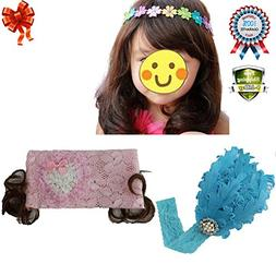 Baby Girls Toddler Princess Lace Flower Headband Hairband Ha
