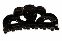 Caravan Tortoise Shell Hair Clip, Scallop Bent Flower