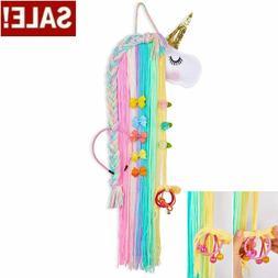 Unicorn Hair Bow Holder Organizer for Girls Hair Clips Stora