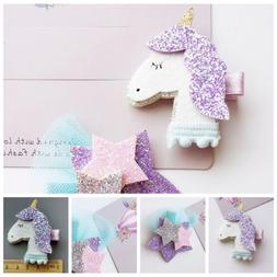 Unicorn Star Girls Hair Clips Hairpins Hair Accessories For