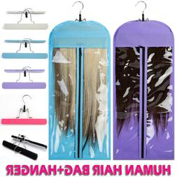 US Blue Virgin Hair Clip In Hair Extension Carrier Storage-S