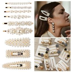USA Fashion Pearl Hair Clip Hairband Comb Bobby Pin Barrette