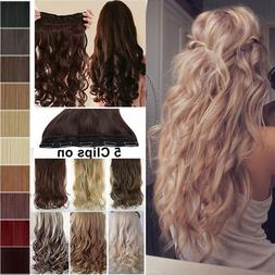 US Premium One Piece Clip In Hair Extensions 100% Real Long