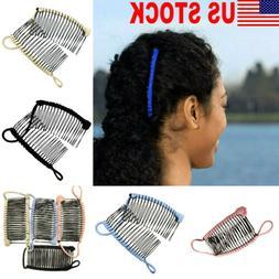 US STOCK Vintage Banana Hair Clip Xmas Hair Accessory Stretc
