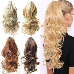 USA Claw Clip On Ponytail Thick Clip In Pony Tail Hair Exten