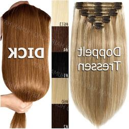Very Thick Clip In 100% Remy Human Hair Extensions 8 Pieces