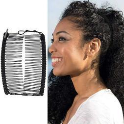 Vintage Banana Hair Clip Double Comb Hair Accessory Stretcha