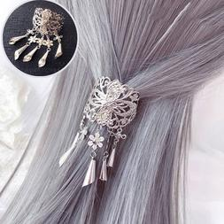 Vintage Women's Alloy Hair Clips Pin Hairpins Crystal Tassel